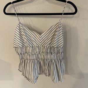 Express Striped Crop Top ✨ EUC
